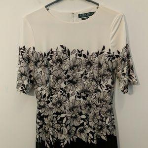 Ralph Lauren Black and White Dress Size 6